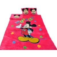 karpet set biasa karakter mickey mouse tebal 3,5cm bahan halus dan