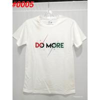 Atasan Pria Kaos Distro Do More 0005 High Quality - Putih, M