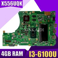 XinKaidi With 4GB RAM I3-6100 CPU X556UQ mainboard For ASUS X556UV