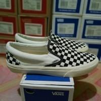 sepatu vans cat board slop authentic hitam putih 39-43