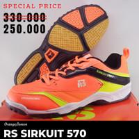 Sepatu Badminton Bulutangkis RS SIRKUIT 570 Orange Murah