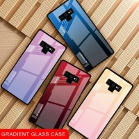 Gradient Glass Case Samsung Galaxy Note 8 9 Note8 Note9 Back Casing