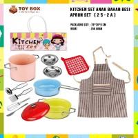 Kitchen Set Anak Bahan Besi Apron Set (25-2A)