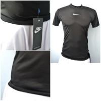 Baselayer Shortsleeve Nike Hitam Pria Baju Futsal Baju Fitness