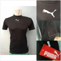 Baselayer Shortsleeve Puma Hitam Pria Baju Futsal Baju Fitness