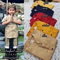 Pakaian adat bali baju safari khas bali anak laki-laki