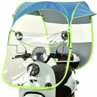 Tenda/Payung/Canopy Motor Anti Panas dan Hujan Praktis