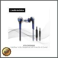STOK TERBATAS Audio-Technica ATH-CKS550iS BL EX BLACK BLUE - Navy