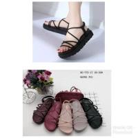 Sepatu Sandal Wanita Jelly Shoes import Gladiato - Sepatu sandal tali