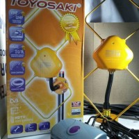 ANTENA DIGITAL TV INDOOR OUTDOOR TOYOSAKI DENGAN BOOSTER AIO 200 FREE