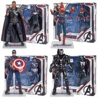 Action Figure Model Captain America Avengers 4 PVC untuk Koleksi Hadi