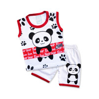 WakaKids Baju Anak Laki Laki Singlet Kaos Panda 3079 Everyday