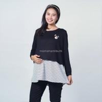 Mama Hamil Baju Ibu Hamil Kaos Lengan Panjang Muslim Bear - SJ 368 B
