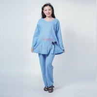 Setelan Baju Ibu Hamil Kerja Pita Bordir Daun Claudya Cloth - STJ 97