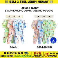 3 Stel-SML/XL/XXL-Aruchi Panjang Baju Piyama Anak Bayi Rabbit