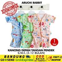 SML/XL/XXL - 1 Pcs Stelan Pendek Aruchi Baju Piyama Anak Bayi Rabbit
