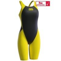 Baju Renang Madwave Revolution Women Kneeskin Yellow FINA Approved