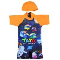 Baju Renang Bayi Karakter Tayo Bus Usia 6 - 24bln Size M - XL