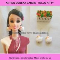 Anting Boneka Barbie HELLO KITTY Sepasang Handmade - Mainan Anak Murah