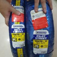 Paket Ban Michelin 110/70-17 dan 140/70-17 Pilot Street