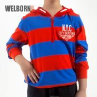 Welborn Kids Sweater Red Blue NYC Anak Laki