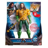 Action Figure Aquaman Trident Strike Light & Sound Mattel Original