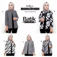 outer batik bolero monochrome