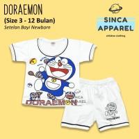 Baju Setelan Anak Bayi Lengan Pendek [Set Kaos Celana] - Doraemon