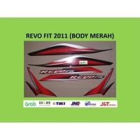 Revo FIT 2011 MERAH Motor Honda Striping Stiker Stripping List