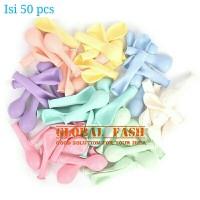 balon latex pastel per pack / balon pastel isi 50 pcs / balon macaron - mix color