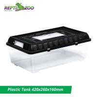 Reptizoo Plastik Tank 42x26x16cm - Kandang Reptil