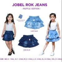 JOBEL Rok Jeans Ruffle Anak Denim Skirt Mini Jeans Baju Anak Perempuan