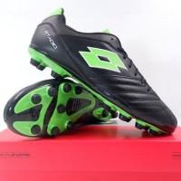 Sepatu Bola Lotto Stadio 300 II FG All Black Spring Green L57748-1NI