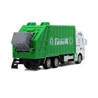 SS Mainan Mobil Truk Pembersih Sampah Bahan Alloy Ukuran Besar