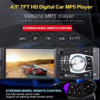 Tape Audio Head Unit Singel Din Layar 4 LED Tip Mobil Bluetooh MP5