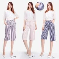 Fisya celana kulot pendek batik 7per8 wanita fit to XL