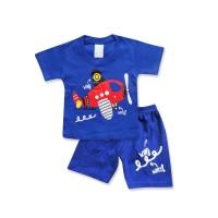 WakaKids Baju Anak Laki Laki Tangan Pendek Kaos Pesawat 2725
