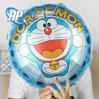 balon bulat doraemon / balon foil bulat hbd / balon karakter doraemon