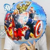 balon bulat avenger / balon foil bulat hbd / balon karakter avenger