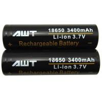 2PCS Batere VAPE / Baterai AWT hitam 3400 mAh 18650 - Isi 2pcs