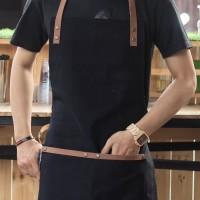 Apron Barista / Celemek Chef Full Canvas and Leather Kualitas Premium
