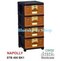 LACI PLASTIK / LEMARI PLASTIK SERBAGUNA- NAPOLLY STB 400 - 4 SUSUN