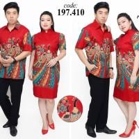 dress batik natal imlek jumbo wanita 410
