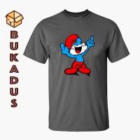 Kaos Papa Smurf   Baju Couple Keluarga   Tshirt Big Size Jumbo 4XL