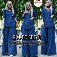 Baju Setelan Wanita Muslim Atasan Dan Kulot Rodeo Set #3 Jeans
