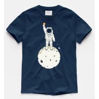 Kaos Distro Pria Astronout Bitcoin Atasan Pria T-shirt Pria