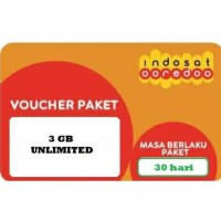 Voucher Paket Data Indosat 3Gb Unlimited 30 Hari