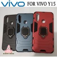Case Vivo Y15 iron armor + ring Softcase Vivo Y15 armor