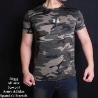 Baju Kaos Pria Army Loreng - Gym Fitness