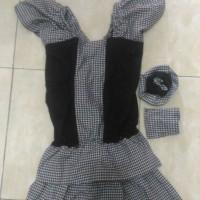 baju fashion show anak hitam putih